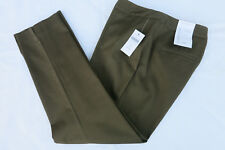 NWT Coldwater Creek Womens Sz 6 Green Olive Ankle Crop Pants Casual Career Work
