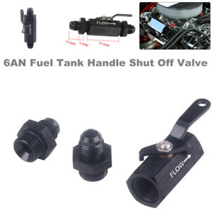 6AN AN6 Car Fuel Tank Handle Cut Off w/ Cable Lever Safety Roll Shut Off Valve