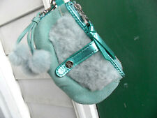 UGG Wristlet bag New, Keychain, Pom Poms real fur