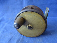 """EARLY VINTAGE CHEVALIER BOWNESS & SON BRASS + EBONITE 2 3/4"""" TROUT FLY REEL"""