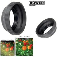 Bower 40.5mm Collapsible Rubber Camera Lens Hood (Black)