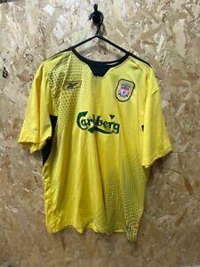 Reebok Liverpool 2004/06 Away Shirt - 19 Morientes Yellow & Black Size Large