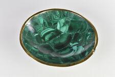 Round Malachite Dish Malachite Bowl from Congo  9.9 cm   # 9743