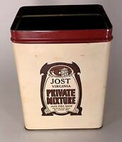 Vintage Pipe Tobacco Tin - JOST VIRGINIA PRIVATE MIXTURE - St. Louis, MO *******