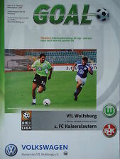 Programm 2000/01 VfL Wolfsburg - FC Kaiserslautern