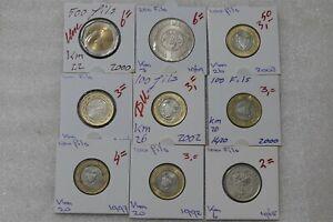 BAHRAIN 9 COINS COLLECTION B38 POL34