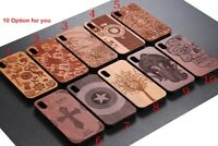 Natural Bamboo Wooden Wood + TPU Case Back Cover For iPhone XS Max/11 Pro Max/XR