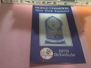 New York Yankees 1979 Schedule