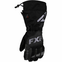 FXR Mens Black Heated Recon Gloves Snowmobile 2020