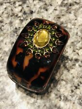 Henri Bendel Wide Crystal Bangle Bracelet