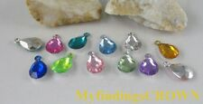 300 pcs Mixed colour teardrop acrylic charms W1728