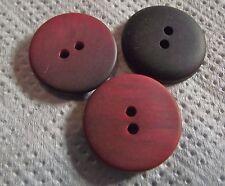5 BOUTONS Rouge bordeaux marbré noir * 21 mm 2,1 cm  2 trous  Button sewing