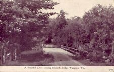 WAUPACA WISCONSIN - BRAINARDS BRIDGE dirt road
