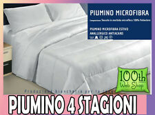 PIUMINO MATRIMONIALE 4 STAGIONI MICROFIBRA 250X200 PIUMOTTO BIANCO 02P4S2