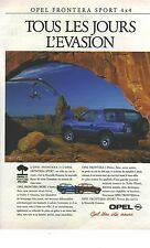 PUBLICITE 1993  OPEL frontera 4X4 sport
