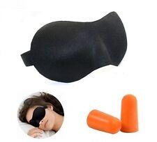 Combo 3D Contour Sleep Rest Cool Eyemask Sleeping Eye Mask + Ear Plug Earplug