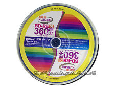 10 Disque dur Verbatim Bluray 50gb BD-RE Bluray Réinscriptible 3d Blu ray Vierge