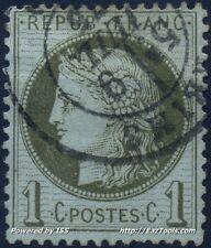 FRANCE CERES N°50 AVEC BELLE OBLITERATION DE REIMS DU 09/07/1875