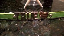 BCBG ~*TRUE <3*~ AFFIRMATION BRACELET SPRING GREEN SMOOTH-S/S LETTERS NWT