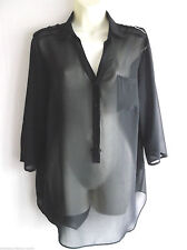 Polyester Patternless NEXT Plus Size Tops & Shirts for Women