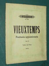 """Partitions Violon et vilon acc. piano  """"Fantasia Appassionata"""" VIEUXTEMPS"""