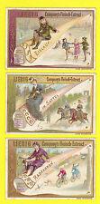 LIEBIG - RARE SET OF 6 CARDS - S  428  /  F  430  -  LEISURE  PURSUITS  -  1894
