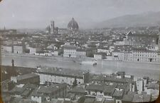 View of Florence, Italy, Vintage Glass Photo Magic Lantern Slide