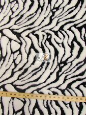 TIGER SHAGGY FAUX FUR FABRIC-White (LONG PILE FUR)-SOLD BTY MONGOLIAN