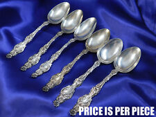 *1* WHITING LILY STERLING SILVER COFFEE SPOON - VERY GOOD CONDITION