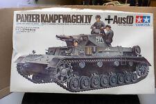 TAMIYA 1/35 GERMAN PANZER KAMPFWAGEN IV AUSF.D + 3 FIGURES MODEL KIT BOXED