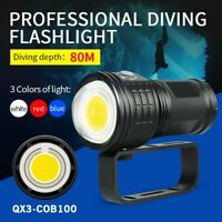 50000LM Diving Flashlight Photography LED Light Underwater 80m IPX8 Torch Lamp