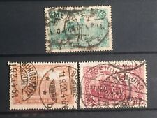 SCOTTS #112-114 1920 GERMANY STAMPS USED