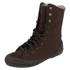 Ladies chocolate leather boots Style Livia Fur  Uk 4