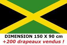DRAPEAU 150 X 90 cm JAMAÏQUE JAMAICAIN BOB MARLEY RASTA * NEUF *