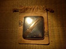 VERY FINE JAPANESE SOLID SILVER SHAKUDO CIGARETTE BUSINESS CARD CASE BAMBOO