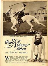Greta Garbo: se uomini amare. foto originale-report di 1928
