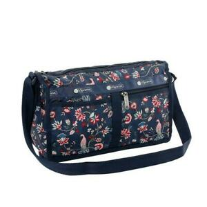 LeSportsac Classic Deluxe Shoulder Satchel Bag Crossbody in Peacock Afternoon