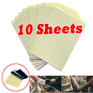 10 Sheets Tattoo Transfer Paper Stencil Carbon Thermal Tracing Hectograph