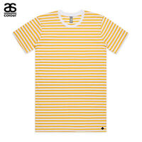 AS Colour ASColour Print Men Blank Plain Staple Yellow Stripe T-Shirt Tee Cotton