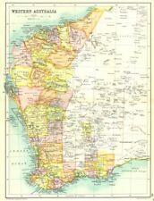 Western australia. state map showing comtés goldfields & chemins de fer 1909