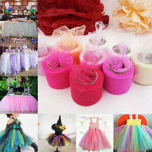 Tulle Roll Spool Wedding Decors Fabric Material Table Skirt Craft Petticoat US