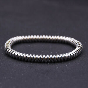 4 Colors Women Men Pave CZ Stopper 6mm Hematite Beads Bracelets Jewelry Gift