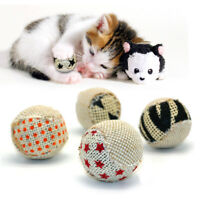 Cute Puppy Cat Ball Toy Squeaky Squeaker Sound Interactive for Cat Pet Play 4pcs