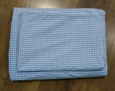 """Pottery Barn Kids """"Blue Gingham"""" Crib Fitted Sheet and Pillowcase"""