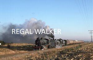 ORIGINAL 35MM NZR ZIMBABWE RAILWAY SLIDE LOCO - 9B 115 & 19 330 BELLEVUE 1994