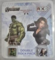 NEW Marvel Hulk Black Widow Rocx Double Pack Charms Reusable Stickers Roxo
