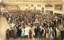 A Gaily Dressed Crowd on Mardi Gras Night, Cave Dancing Academy, St Louis MO
