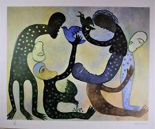 CUBAN MASTER MANUEL MENDIVE ART SERIGRAPHY HAND SIGNED VERY UNIQUE PIECE