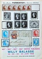 1966 Auction Catalogue La Collection PARMENTIER - Willy Balasse