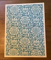 Shepard Fairey Obey Giant FLORAL PATTERN Signed Numbered Screen Print 35/100